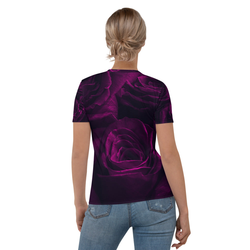 Purple Roses Printed T-shirt