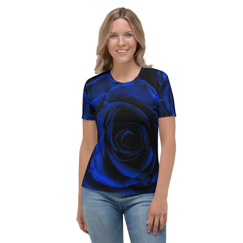 Blue Roses Printed T-shirt