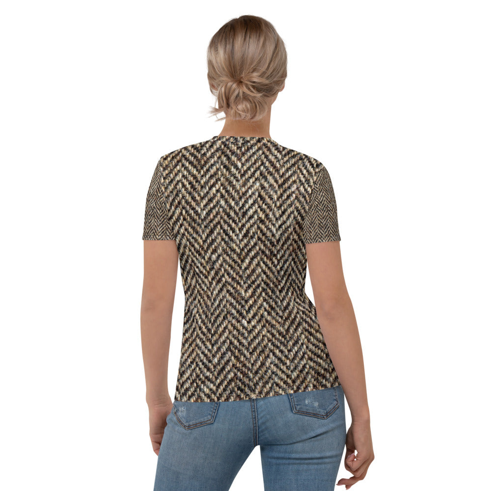 Herringbone Tweed Printed T-shirt