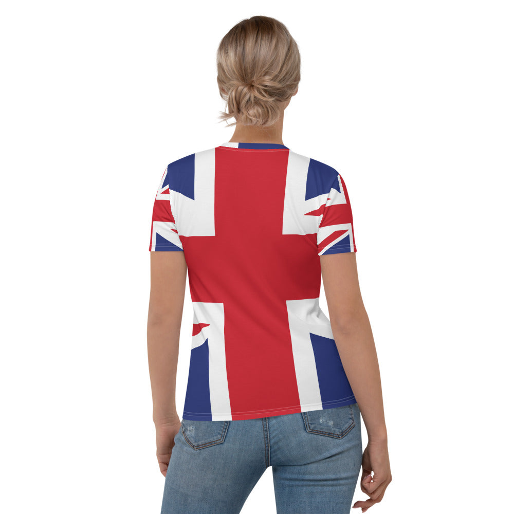Union Jack British Flag Printed T-shirt