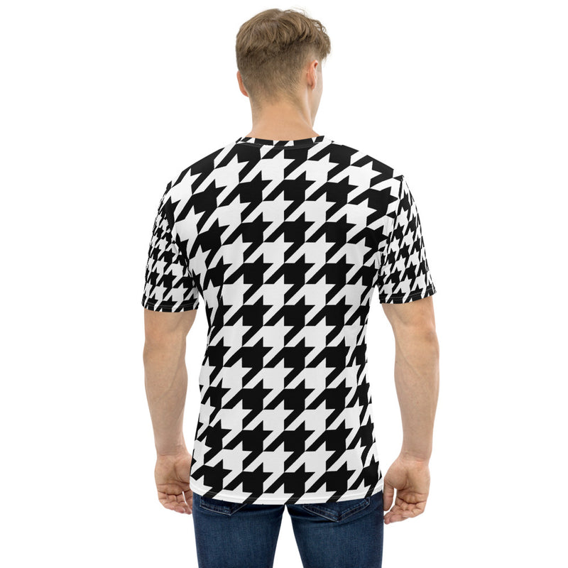 Houndstooth Check Men's T-shirt