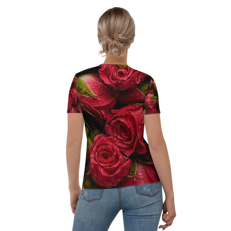 Red Roses Printed T-shirt
