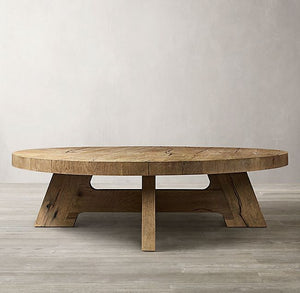 Wooden coffee table, round or square?