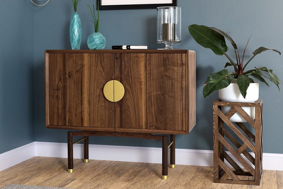 Walnut bar Cabinet by Greenhouse Dceor