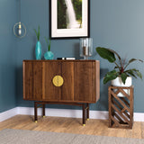 Isamu Walnut Hand Crafted Bar Cabinet/ Sideboard