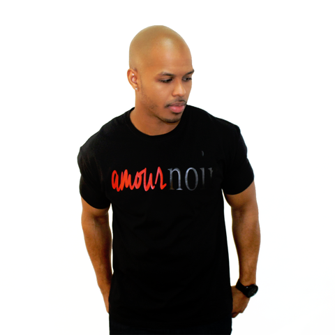 Amour Noir/Black Love T-Shirt-DonDeMarco - Luxury Brand LA - Shop Latest Trends and Hottest Apparel from Luxury Brand LA