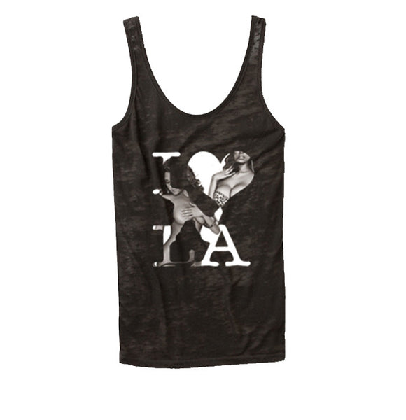 DonDeMarco I Love LA Burnout  Tank Top - Luxury Brand LA - Shop Latest Trends and Hottest Apparel from Luxury Brand LA