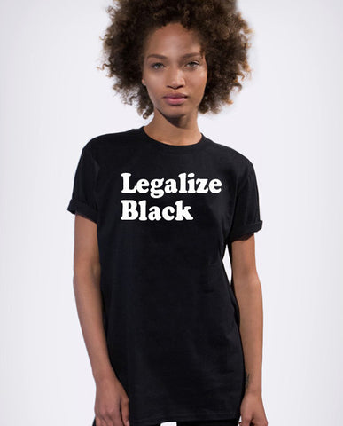 Legalize Black T-Shirt - Luxury Brand LA - Shop Latest Trends and Hottest Apparel from Luxury Brand LA