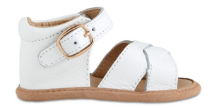 Baby Sandal- White Split-Soled Leather