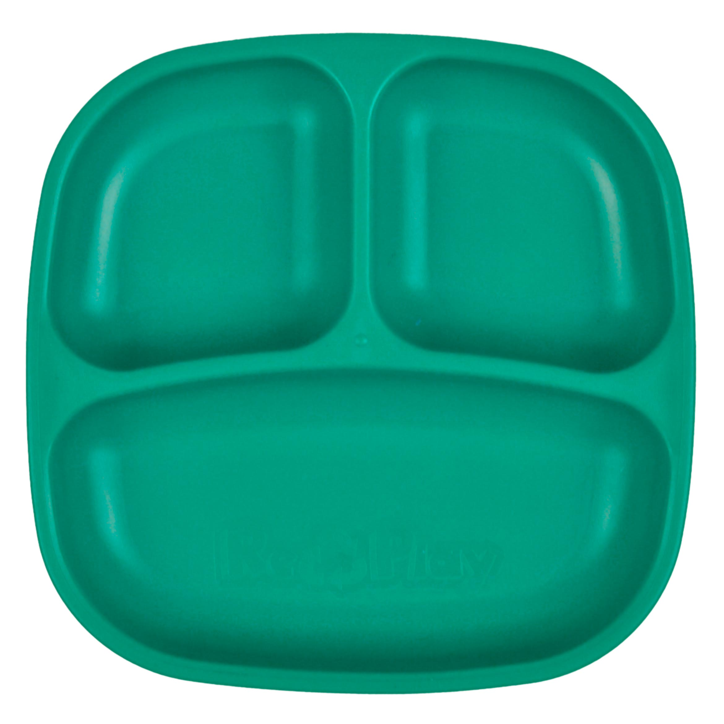 "Re-Play 7"" Divided Plate - Teal"