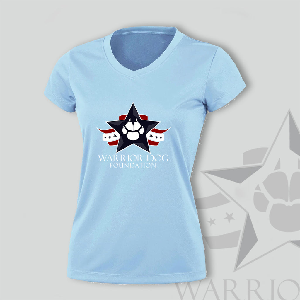 Warrior Dog Foundation Woman's T-Shirt - Ice Blue