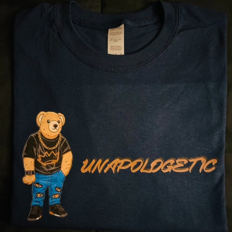 Unapologetic Bear - Navy Blue Tee