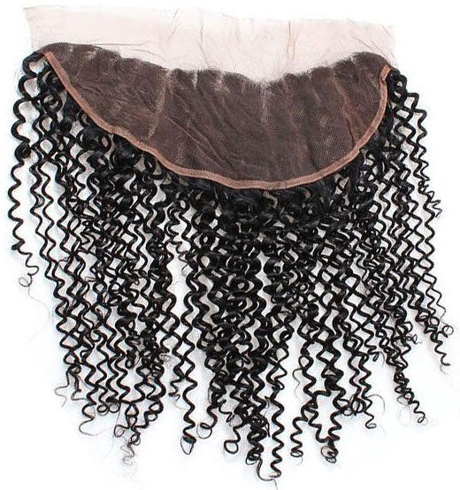 Lace Frontal  Kinky Curly cheveux naturels