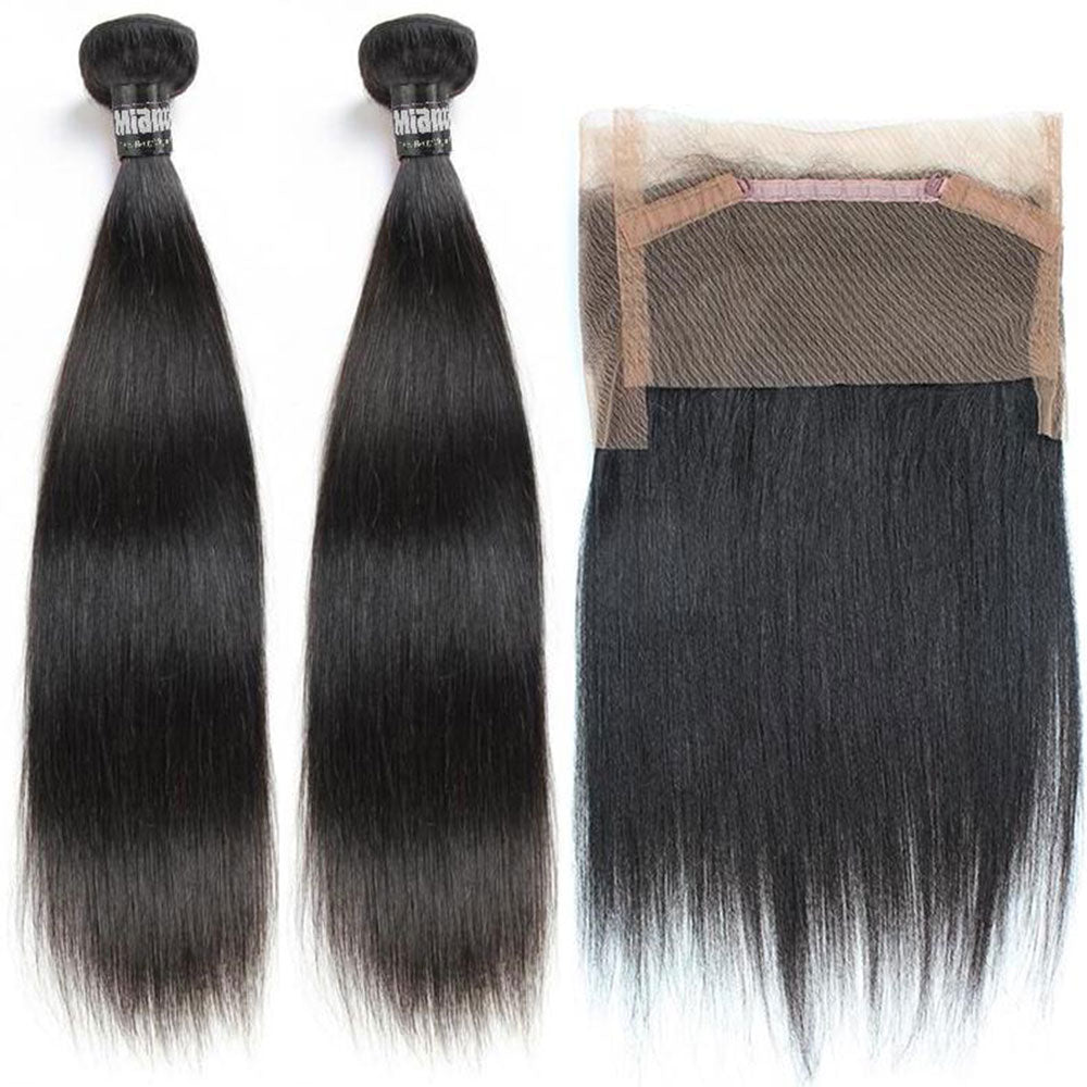 2 Weaving Packages + Lace Frontal 360 ° Straight