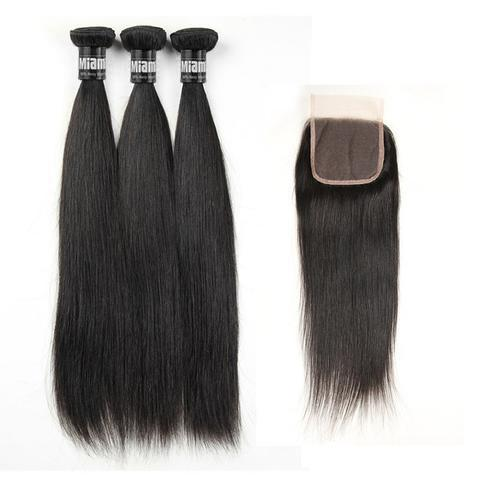 3 Paquets de Tissage  + Closure Straight