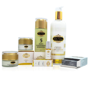 caramel set- whitening booster- caramel body lotion