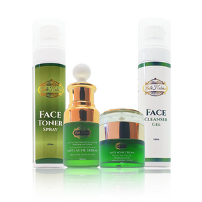 Anti acvne face toner- anti acne face serum- face cleancer gel