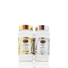 ULTIMATE ORGANIC PILLS+ VITAMIN C& COLLAGEN. (the most lightening set-)