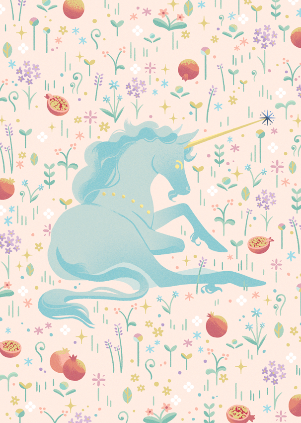 Enchanted Unicorn Gold Foil Print