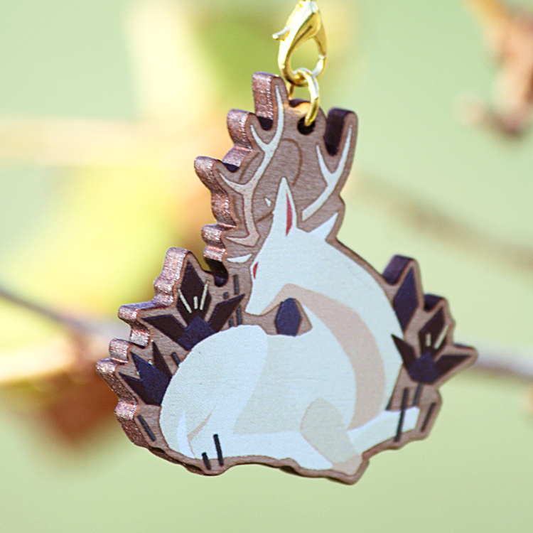 Magpie & Deer Wooden Charms