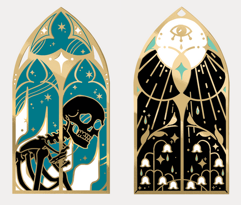 Stained Glass Enamel Pins