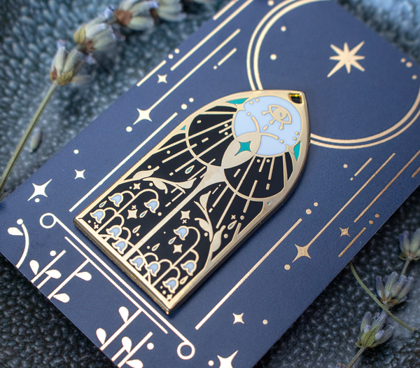 Stained Glass Enamel Pins I