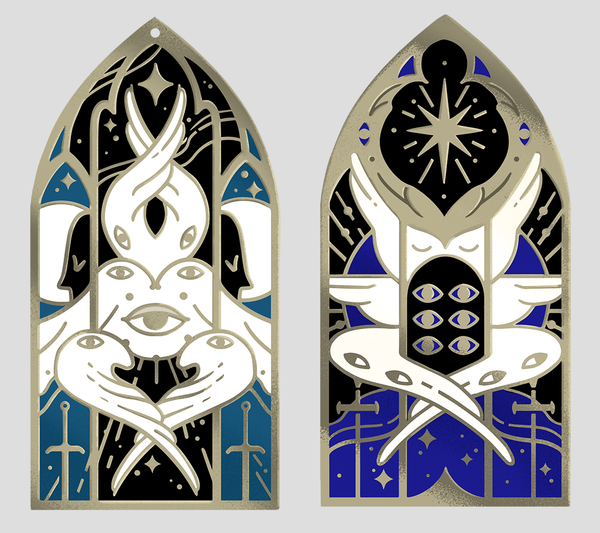 Stained Glass Enamel Pins II