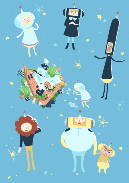 Katamari Damacy - Heart of Gold edition Sticker Sheet