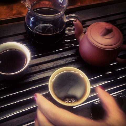 puer at the teahouse