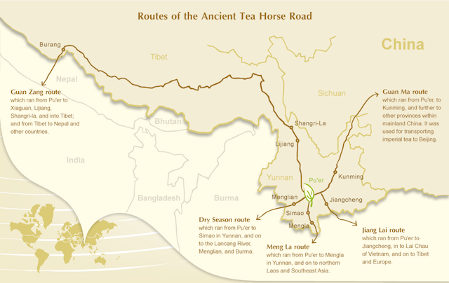 tea horse road map