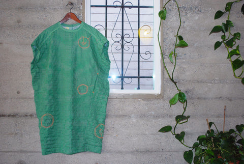 Handmade Green Tea Dress/Long Shirt