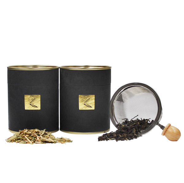 Starter Kit: White Tip Oolong, Lemon Grass Medley & Metal Infuser