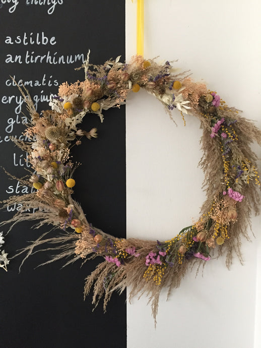 Large Dried Wreath - Flùr