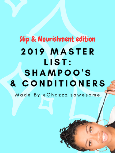 Master List of Moisturizing Shampoo's and Conditioner's for Natural Hair!