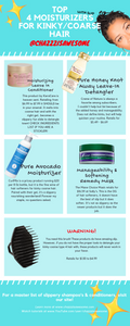 """Top 4 Must Have Moisturizers For Coarse Hair"" Mini PDF Style"