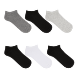 K. Bell Women's Solid Charcoal Ankle Socks Six Pair Pack