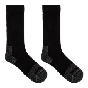 Carhartt Men's Cold Weather Comfort Stretch Crew Socks - Made in the USA