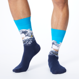 Hot Sox Men's Hokusai's Great Wave Socks thumbnail