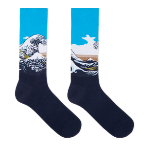 Hot Sox Men's Hokusai's Great Wave Socks