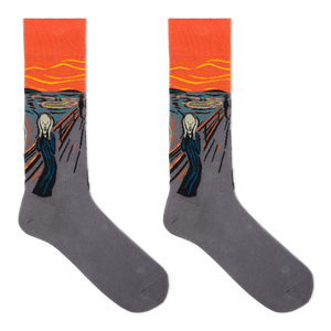 Hot Sox Men's Munch's The Scream Socks