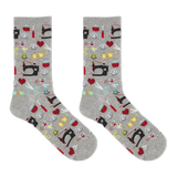 Hot Sox Women's Sewing Supplies Crew Socks