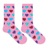 Hot Sox Women's Heart Candy Crew Socks