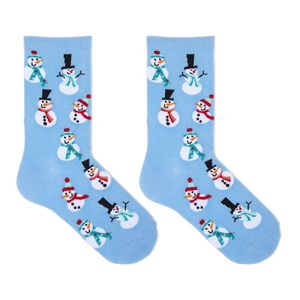 Hot Sox Kid's Snowmen Crew Socks