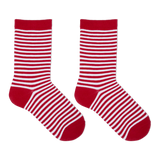 Hot Sox Kid's Holiday Stripe Crew Socks