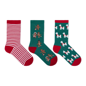 Hot Sox Kid's Assorted Gingerbread Llama Socks