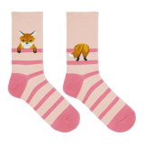 Hot Sox Women's Fuzzy Fox Crew Socks thumbnail
