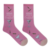 HOTSOX Women's Mama Needs A Cocktail Crew Socks