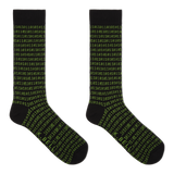K. Bell Men's Binary Tech Crew Socks