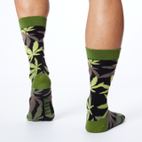 K. Bell Men's Pot Luck Green Crew Socks