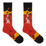 K. Bell Men's Red Planet Crew Socks